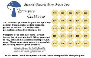 Stampers Clubhouse Silver member punch card