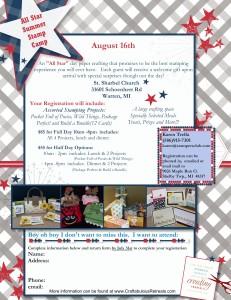 all star summer stamp camp