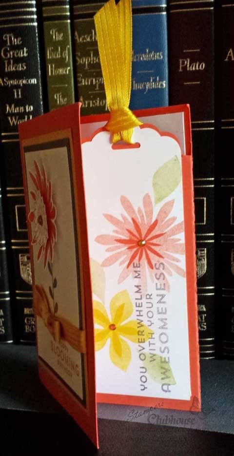 Flower-Patch-Bookmark Card