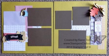 October 2013 scrapbook layout