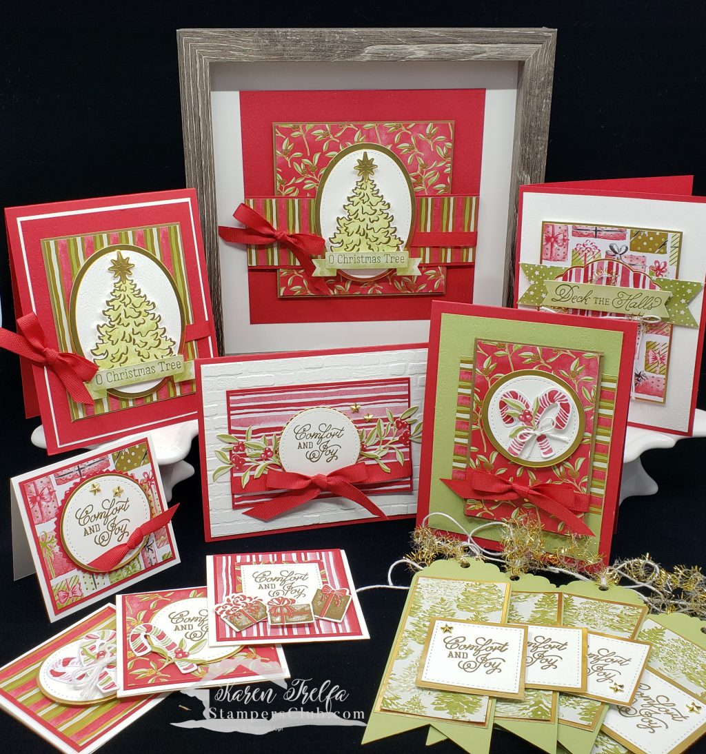 Online crafting class with Stampin\' Up! Most Wonderful Time Medley with Stampers Club