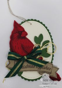 Cardinal Christmas Gift Tag